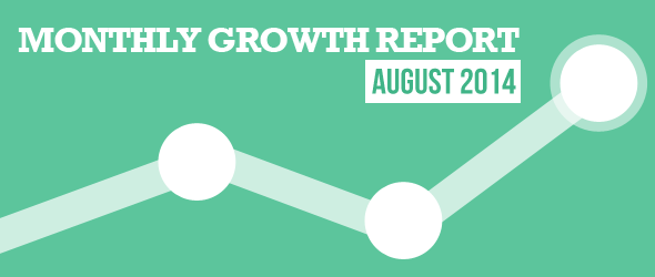 monthly growth report - august 2014