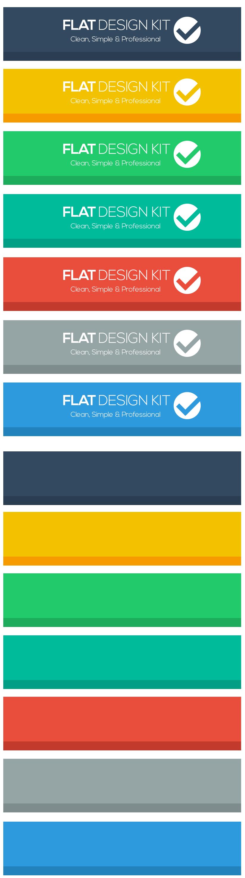 flat design headers