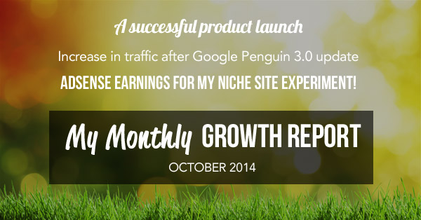monthly growth report october 2014